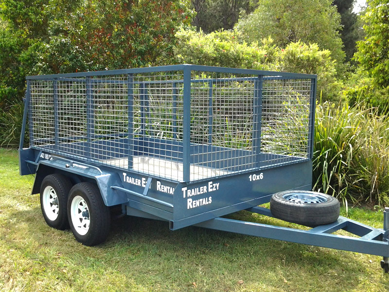 10X6 DUAL AXLE CAGED TRAILER